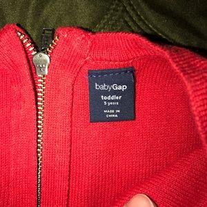 GAP Dresses - Gap 5 years knit dress red pleated beautiful